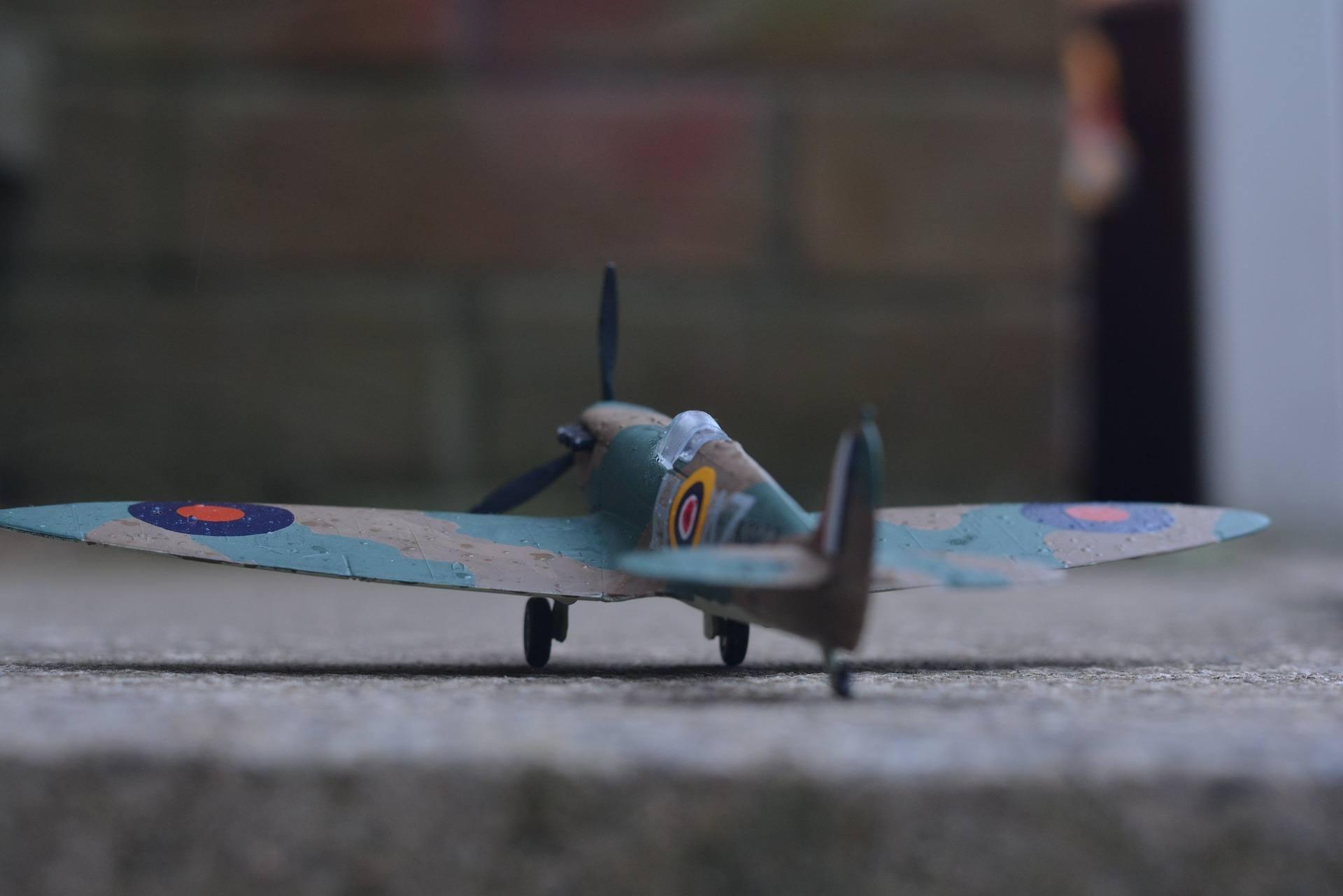 Polystyrene model plane